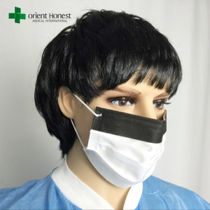 12 Years factory for black strip fog stop mask , disposable blue surgery mask , fog free 3 ply face mask