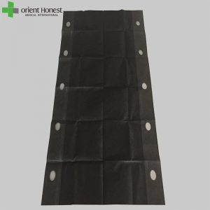 CE ISO approved Single use 300up lbs black nonwoven patient bed transfer sheet