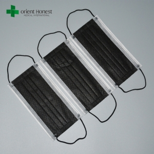 China Supplier Breathable Dust Filter Disposable Black Mouth Cover Face Masks