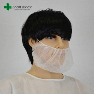 China best supplier for hospital surgical beard mask , disposable beard face masks , poly beard cover