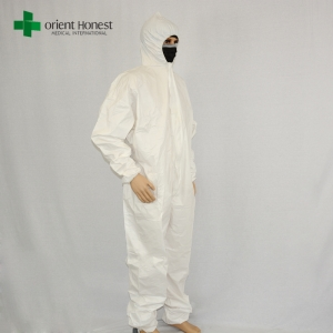 China disposable safety clothing wholesale,disposable tape 5 6 industrial uniform,SF microporous overall protective suits
