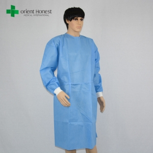 China manufacturer for SMS surgical gowns,the best plant hospital sterile gowns,disposable blue surgery gown supplier