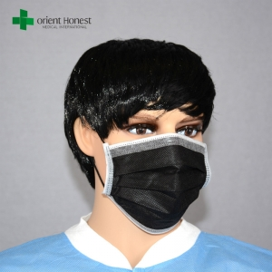 China manufacturers for non woven black masks , adult black disposable dust mask , ear loop face mouth masks