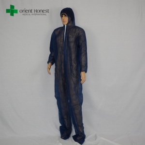 China supplier disposable blue cleanroom overalls,high quality disposable overalls,China the best qualified PP coverall