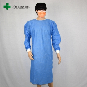 China surgical gown manufacturer,China disposable gowns manufacturers,blue non woven surgical gown supplier