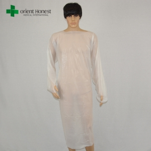China vendor CPE disposable surgical clothing,disposable CEP surgeon gown,wholesale CPE disposable hospital gowns