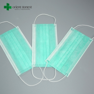 China vendor for soft pleated face masks , light color earloop face mask fashion , surgical mouth covers