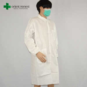 China wholesales medical protective clothing lab coats,factory disposable breathable lab coat ,SF microporous film lab coat waterproof