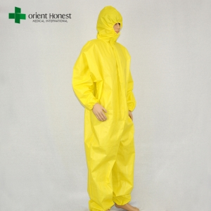China workwear product type coverall,type 5 type 6 impervious coverall, chemical resistant coverall disposable