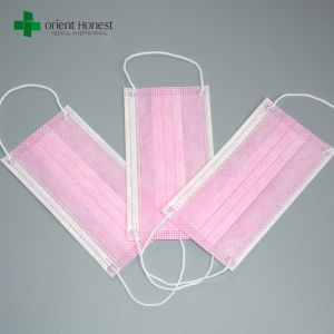 Chinese best exporters for single use personalized face masks , ear loop pink surgical mask , hygiene safety face mask