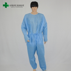Chinese disposable patient gown,disposable surgical scrub suits,disposable two pieces gowns
