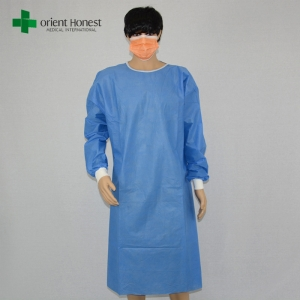 Chinese surgical gown non sterile,disposable SMMS surgery gowns,wholesale SMMS surgical gown