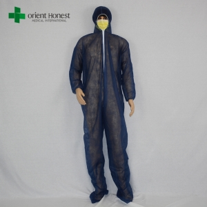 Chinese wholesales black color disposable protective safety coverall for oil and gas industrials