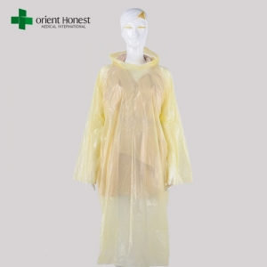 Disposable PE waterproof poncho supplier in China