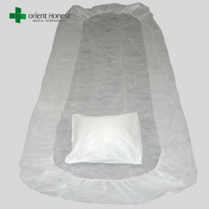 Disposable bed sheets for hospital maker , disposable surgical pillow case , one time use hotel bed sheet set