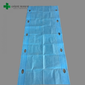 Disposable polypropylene carrying sheet for repositioning and transfering patients