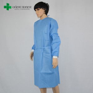 EO sterile sms surgical gown supplier, China best quality sterile surgeon gowns, sterile surgical gown SMS for hospital use