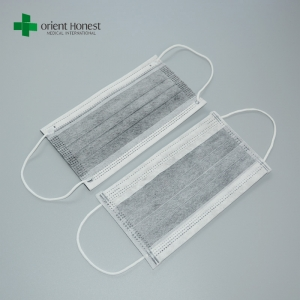High filtration activated charcoal face mask , carbon filter face mask , carbon mask with earloop