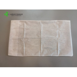 Hubei manufacturer SMS disposable pillow cover with edgefold
