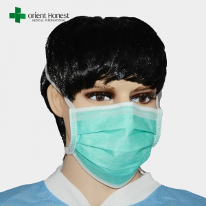 IIR surgical face masks , tie on medical mask , disposable 3ply face mask vendor