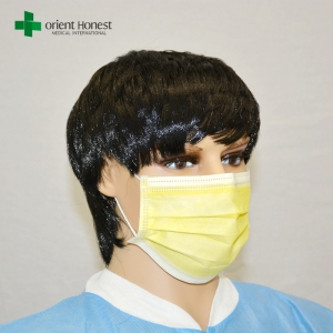 Manufacturers for children disposable face mask , wholesale non woven isolation face mask , light color nonwoven dust masks