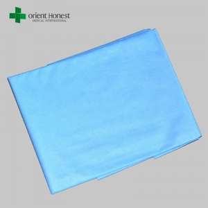 One time use bed cover with elastic , fitted disposable bed sheets , sterile surgical sheet workshop