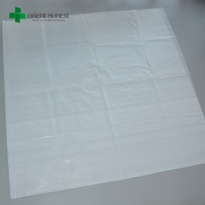 PE bed sheet for hospitals , waterproof disposable plastic sheets , one time use polyester bed sheet factory