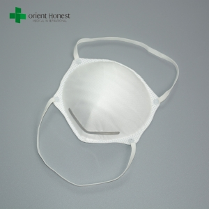 Protective white disposable particulate N95 dust mask manufacturers