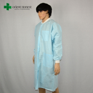 best quality supplier for disposable anti-static lab coat,SMS medical disposable clothes , wholesales Disposable hospital SMS Clothing