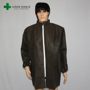 disposable black lab coats exporter,disposable lab coat zipper front,stand collar lab coat disposable