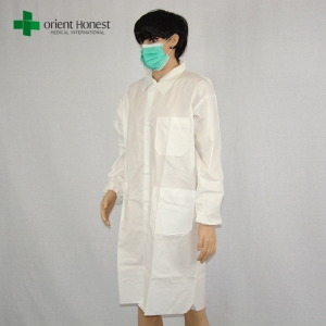 disposable vistor coat with pocket in China,SF anti-static uniform lab coat,the best factory for water resistant lab coat