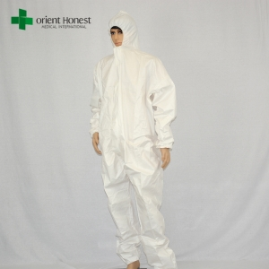 high quality disposable impervious coverall,white disposable protective overalls,waterproof disposable protective suits