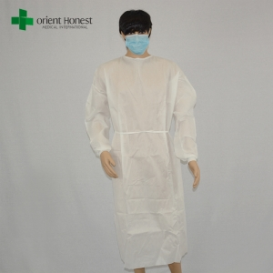 non-woven surgical gowns workshop,disposable surgery gowns for hospital,China disposable PP surgeon gown