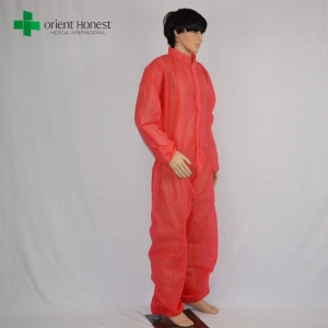 red custom kids disposable coveralls,the best plant for disposable kids overalls,kids red disposable coveralls
