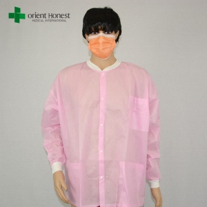the best exporter for pink lab coat,antistatic disposable medical lab coat,polypropylene disposable lab coats