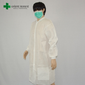 white lab coat with knit cuff,China custom lab coats disposable,disposable laboratory coats for sale