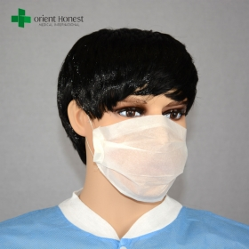 China 2-ply disposable paper face mask , paper dust mask with elastic cord earloop , best paper face mask manufacturer factory