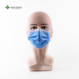 China 3 ply nonwoven surgical disposable face mask factory