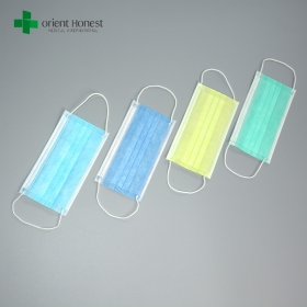 China 3 ply surgical face mask , anti-virus breathing mask , single use dental face mask factory