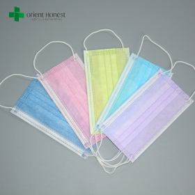 China 3ply disposable surgical face mask , antibacterial face mask 17.5*9.5cm , PP nonwoven soft anti-odor face mask factory