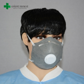 China Activated carbon dust face mask , N99 dust mask with exhalation valve , industrial dust face mask factory