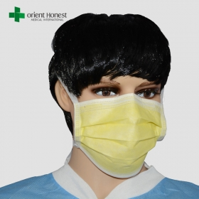 China Anti-bacteria surgical facial mask , cleanroom medical masks , non woven face mask supplier factory