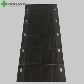 China CE ISO approved Single use 300up lbs black nonwoven patient bed transfer sheet factory
