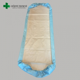 China CE ISO approved liquid proof one time use non woven bed cover with elastic ends factory