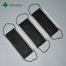 China China Supplier Breathable Dust Filter Disposable Black Mouth Cover Face Masks factory