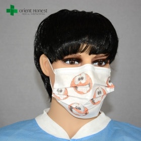 China China best factory for ear-loop cartoon printed medical mask , PP nonwoven child face mask , kids surgical masks factory