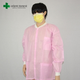 China China disposable children lab coat,disposable pink kids lab clothes ,wholesaler non woven lab coats factory