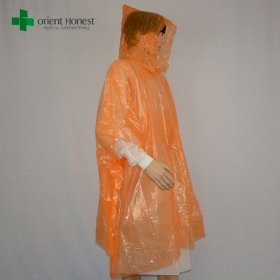 China China manufacturer for transparent rain suit,disposbale waterproof breathable rain suit,emergecy plastic raincoat with hood factory