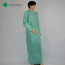 China China manufacturer non-woven isolation gown,large size doctor nonwoven surgical gown, one time use non-woven surgical gown factory