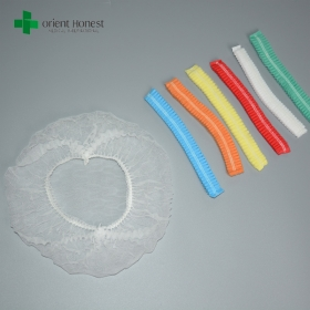 China China plant for 19'' single elastic clip cap , nonwoven dental clip caps,dentist clip mob bouffant cap factory